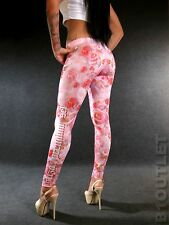 YAKUZA Premium Hot Girl Leggings 2270 Rosa XS S M L XL sexy Pants Damen Leggins