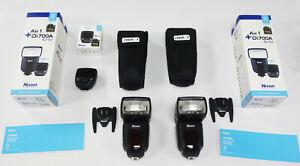 2x Nissin Di700A flashguns 1x Air1 Commander for Panasonic Olympus MFT (REF443)