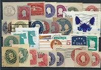 FRANCOBOLLI 1893/1990 STATI UNITI/CANADA LOTTO RITAGLI DI INTERI D/6049