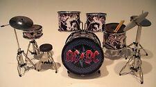 RGM301 Phil  Rudd ACDC Black Miniature Drum kit