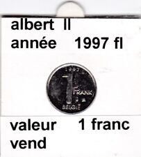FB 2 )pieces de albert II  1 francs 1997   belgie