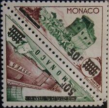 Monaco 1956 556-57 dd varity Double Print reprochó Double postage due MH
