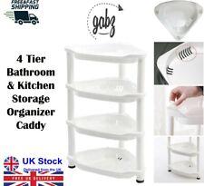 GABZ 4 Tier Triangle Corner Kitchen & Bathroom Storage Unit Organizer Caddy Rack