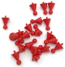 LEGO 20 NEW RED MINIFIGURE HATS WITH PIN ATTACHMENT BIRTHDAY PARTY HAT PIECES