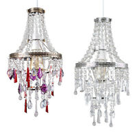 Modern 4 Tier Acrylic Crystal Ceiling Pendant Light Lamp Shade Chandelier Shades