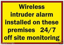 Ser conscientes de advertencia de monitoreo Inalámbrico Intruso Alarma 24/7 Seguridad CCTV Letrero de tienda