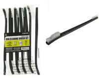 "10pc 7"" Double Ended Gun Cleaning Brush Set - Nylon Bristles"