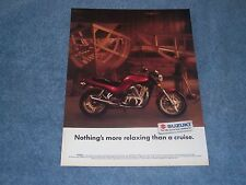 "1991 Suzuki VX800 Vintage Motorcycle Ad ""Nothings More Relaxing than a Cruise"""