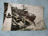WWII US Army Photo Landing Craft On Way to Normandy France June 1944 WW2