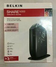 NEW! Belkin Share N300 300 Mbps 4-Port 10/100 Wireless N Router (F7D7302) SALE!