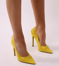 Mujer señoras Pointy Tribunal Zapatos Tacones Altos PERSPEX Sandalias Fiesta Zapatos Talla