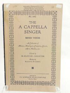 The Un Cappella Singer Assortiment Voices Feuille Musique Un Collection De