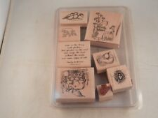 "STAMPIN' UP! ""NEW"" SET OF 8 STAMPS 1998 - FEATHERED HOPE"