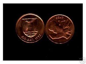 KIRIBATI 1 Cent KM1 1992 x 100 Pcs Lot Deal BIRD CHRISTMAS SUN UNC PACIFIC COIN