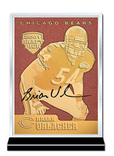 2001 BRIAN URLACHER Chicago Bears FEEL THE GAME 23K GOLD Throwback ROOKIE Card