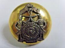 antique gold tone metal uniform button Royal guards Kingdom of Brunei rare 49508
