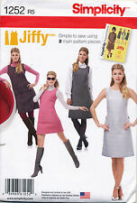 SIMPLICITY SEWING PATTERN 1252 MISSES SZ 6-14 RETRO '60s A-LINE PINAFORE / DRESS