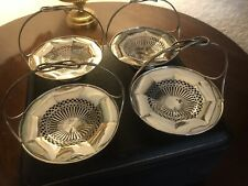 More details for solid silver boxed set of antique dishes hallmarked 1908