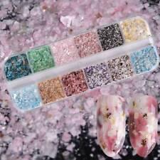 Nail Art Glitter Marble Powder Dust For UV GEL Acrylic Powder Sequins Decor Tips