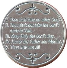 GOD's Laws: The Ten 10 Commandments Holy Coin Token +