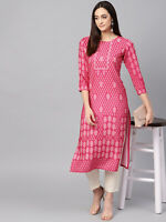 Indian Bollywood Women Kurti Kurta Ethnic Designer Long Top Tunic Dress S to 4XL