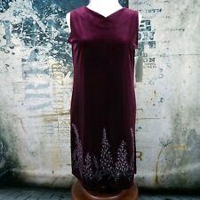 Impressions Womens Shift Dress Velour Velveteen Millennium Edition Size M