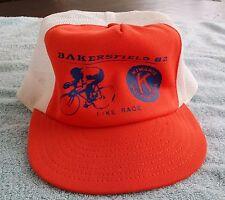 Vintage Trucker Baseball Hat Bike Race Bakersfield CA 1982 Kiwanis Intl. Mesh