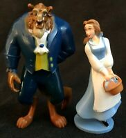 BEAUTY AND THE BEAST Figure Play Set DISNEY PVC TOY PRINCESS Belle Cake Toppers!