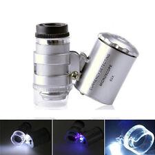 Mini Pocket 60X Useful Jewelers Loupe / Magnifier with LED & Fluorescence Lights