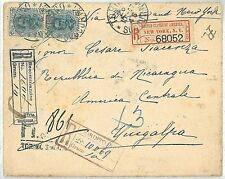 ITALY -  POSTAL HISTORY - REGISTERED  COVER to NICARAGUA: GRANADA / CORINTO 1897