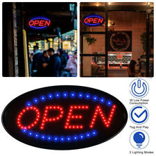 """19""""×10"""" Bright Neon Animated Led Business Sign Open Light Bar Store Shop Display"""