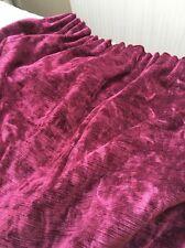 Professionally Hand Made Burgundy Curtains, Pelmet and Tie Backs