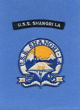 USS Shangri La CVS 38 Navy Jacket Patch with Shoulder Tab