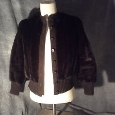 Woman's Vintage: Clarendon by Henry Friedrichs Brown Faux Fur Sweater Coat
