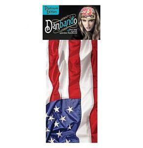 Danbando Head Band Wrap Cap Du rag Biker Casual USA Stars and Strips Flag Design