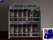12 jar spice rack ( HERB & SPICE  ) in White  made in OZ