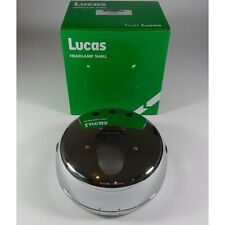 "Lucas 7"" Flat Chrome Headlight Shell & Rim LU54524099"