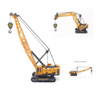 1/55 Tower Crane ABS Plastic Engineering Cable Excavator Crane Model Toy Gift