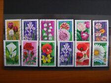 Série complète fleurs  2012 (YT 662 à 673), 12 timbres