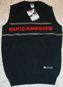 VINTAGE TAMPA BAY BUCCANEERS ON FIELD TEAM ISSUE COTTON PULLOVER VEST MEDIUM NEW