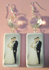 """""""BRENNEN & BOOTH WEDDING""""- -HAND CRAFTED EARRINGS-BONES"""
