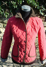 AQUASCUTUM RED SILK QUILTED JACKET SIZE M 10 - 12 BNWT