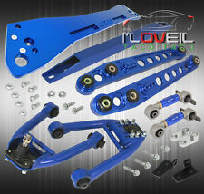96 97 98 CIVIC BLUE FRONT REAR CAMBER KIT BLUE + LOWER ALUMINUM TIE SUBFRAME BAR