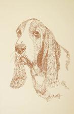 Basset Hound Dog Art #39 Stephen Kline draws dogs name free. Drawn From Words