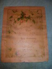 Beautiful 1909 Victorian Holy Matrimony Marriage Certificate from Alva Oklahoma!