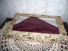 ANTIQUE LACE HAIR VEIL OR SHAWL BURGUNDY LACE