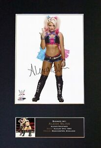 #696 ALEXA BLISS Reproduction Signature/Autograph - Mounted Signed Photograph A4
