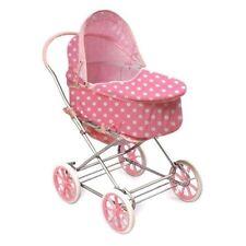 Badger Basket Pink w/White Polka Dots 3-in-1 Doll Pram, Carrier, & Stroller