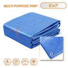 5-30ft Tarp Poly Tarpaulin Canopy Tent Shelter Car Boat Reinforced Resistant