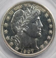1907 50c PROOF Barber Half Dollar PCGS PR 63 Dr. Jack Adams Provenance.